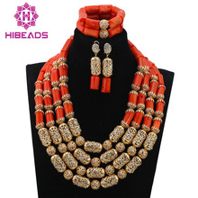 Stunning! Native American Style Coral Beads Necklace Set New Accessories Fashion African Jewelry Set CNR668