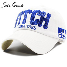 Sole Crowd FITCHSINCE1985 sequin letter baseball caps women fashion embroidery cotton cap summer snapback brand men hip hop hat(China)