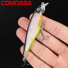 Hot Sale New Arrival 1pcs 8cm/7.5g Hard Baits Lifelike Minnow Fishing Lures Artificial Make Plastic Wobblers Fishing Tackle(China)