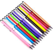 1000pcs High Sensitive 2 in 1 Capacitive Touch Stylus Pen with Gel ink Ballpoint Pen for Smart Android Phone Tablet PC Wholesale(China)