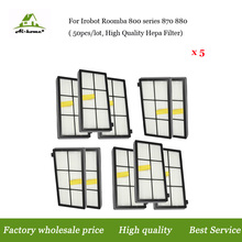 Wholesale 50pcs/lot, High Quality Hepa Filter For iRobot Roomba 800 Series 870 880 Vacuum Robots Replacements Parts