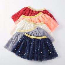 Baby Skirts For Girls Pettiskirts Tutu Five Stars Printed Ball Gown Toddler Party Kawaii Kids Skirt Children's Clothing(China)