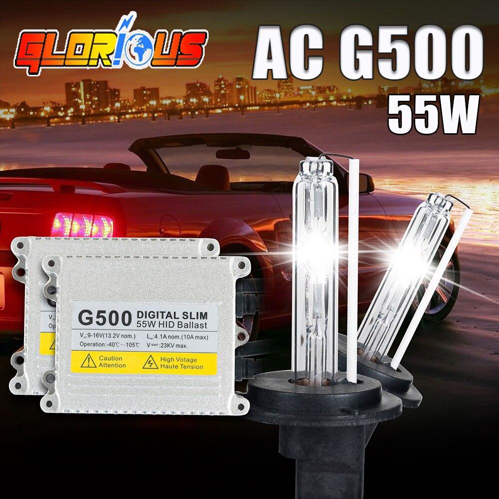 One Pair H7 Xenon HID Headlight H7 Single Beam Lamp G500 12V 55W 3000k-30000K Blue Color Xenon Light Bulb Hight Quality xenon<br><br>Aliexpress