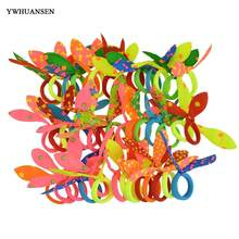 YWHUANSEN 50pcs/lot Small Rabbit Ears Scrunchy Mini Elastic Hair Band Ties Little Girls Hair Accessories Headdress Rubber Bands(China)