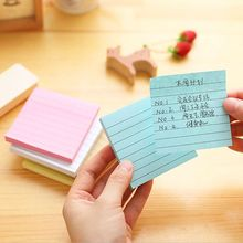 1PC Sticky Notes Notebook Simple Line Memo Pad Bookmark Stickers Notepad Paster Stationery School Stationery Office Supplies(China)
