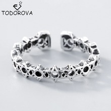 Todorova New David Star Protection Band Ring Hexagram Magen 925 Sterling Silver Jewelry Wholesale Adjustable Ring