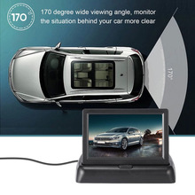 4.3 Inch Foldable TFT Display LCD  170 degrees  Car Rearview Monitor Waterproof Night Vision Licence Plate Car Rearview Camera