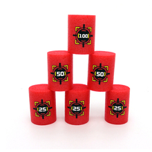 Wholesale 6Pcs/set Red EVA Soft Bullet Targets for Blasters Shooting Game Dart Kid Toy Baby Children Gifes(China)