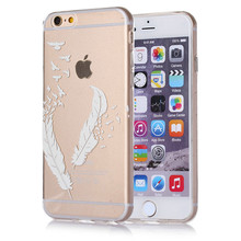 [Buy 3 get 4] Soft Silicon Case For iPhone 6 6s 4.7 Inch Cover  Back Protecter High Quality Ultra Thin Gel Bag Shell feather