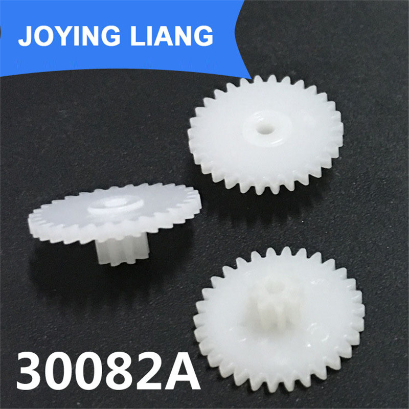 30 to 10 Reduction Gear Teeth for 2mm Motor Shaft 16mm Dual Plastic Cog Wheel