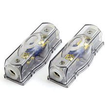 2 Pcs Gray Clear Electrical Audio Amplifier Fuse Holder for Car Replacement