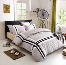 Gray sports 100% Cotton Duvet Cover Bed Set 4pcs Bedding Sets Comforter Sets Twin Full Queen King bedclothes Set Pillowcase(China)