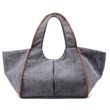 New Vintage Canvas Women Handbags Hobo Bag WomenHandBags Female Casual Belt Big Lady Shoulder Beach Travel Bag Saco De Lona Ms.(China)