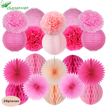 20pcs Baby Shower Tissue Paper Pom Pom Paper Bridal Shower Wedding Decorations Vintage Snow or Sea Theme Birthday Party Decor,Q(China)