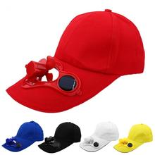 5 Colors Summer Outdoor Sport Solar Power Hiking Fishing Cooling Cool Fan Hat Cap