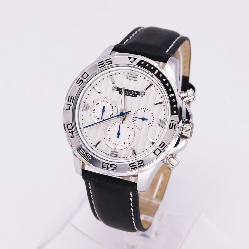 Real Functions Mens Watch Julius Japan Quartz Homme Hours Fine Fashion Dress Bracelet Leather Sport Clock Birthday Gift Box<br>