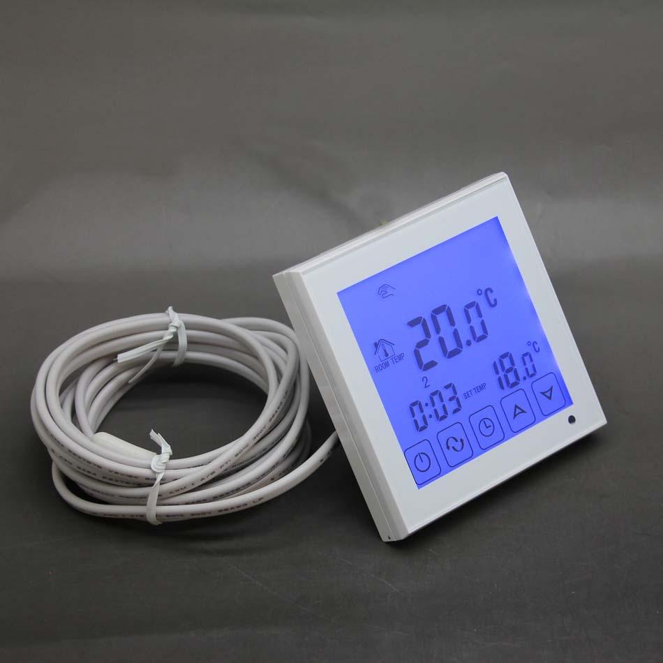 TERMOSTATO digitale per Fussbodenheizung//ELETTR riscaldamento max 16a BIANCO #847