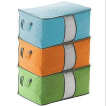 Folding Clothes Storage Bag Non-woven Fabric Large Storage Bag Box for Clothes Quilt Duvet Laundry Pillows 60*43*36cm