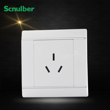 japan 86mm white 16A 3pin AU standard australia air conditioner wall switch socket