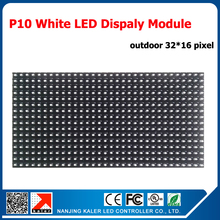 TEEHO White color P10 led module led diplay outdoor 320 x 160mm 32*16pixels for programmable scrolling message led sign