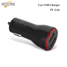 KISSCASE High Quality Quick Charge 2.0 Universal Dual USB Fast Car Charger Adapter 5V/2.4A For Mobile Phone For iPhone Tablet PC
