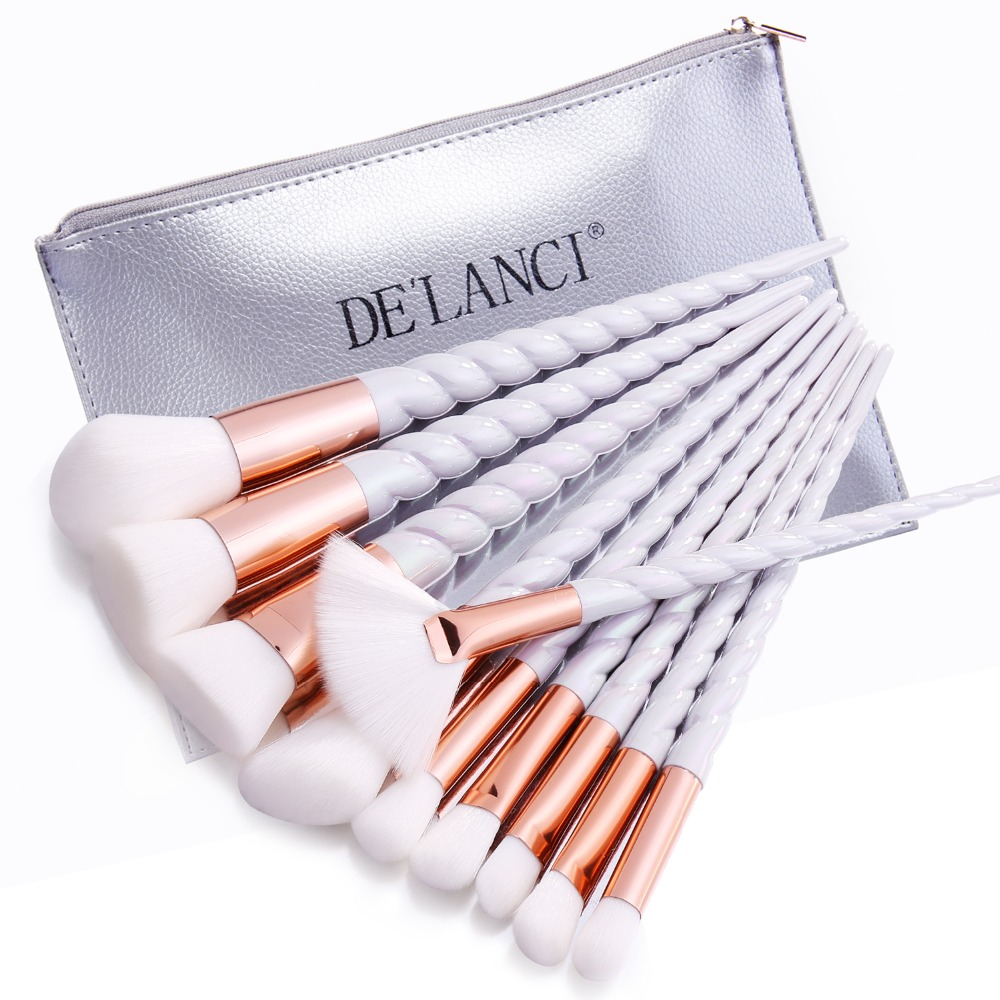 DELANCI 10PCS Makeup Brushes Gradient color Spiral Handle Cosmetics Make up Tools Powder Contour Foundation Eyeshadow Brush Set<br><br>Aliexpress