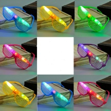 Light Up Glow Shutter Glasses LED Shades Flashing luminous Rave Wedding Hen Night Fancy Dress Concert Cheer atmosphere props