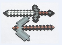 espada Minecraft,Minecraft Foam Sword & Pickaxe Toys Minecraft Game Toy Diamond Sword Action Figure Mosaic Toys for Kids