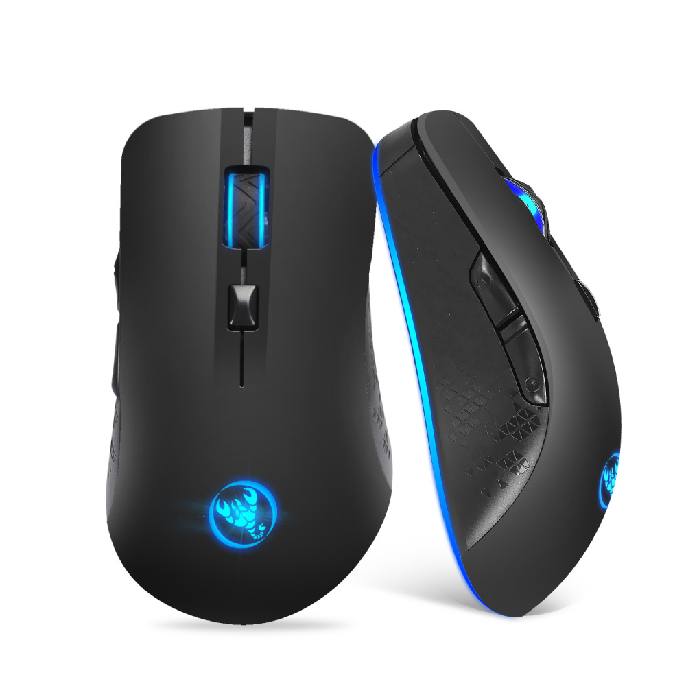 HXSJ 2.4GHz Wireless Gaming Mouse with 2400dpi adjustable  USB Mouse Gamer Built-in Rechargeable Battery for Computer Laptop