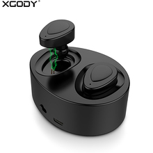 XGODY K2 TWS Wireless Earphones Bluetooth Earphone With Microphone Mini Earbuds HD Stereo Music Headset for Apple Android Phone(China)