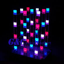 4X4X4 Light Cube Kit shield LED DIY suite Kit Red Blue(China)