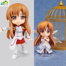Anime Sword Art Online II Asuna Cu-Poche 17 Titania version Nendoroid 382  PVC Action Figure Collection Model Kids Toy Doll