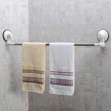 70cm Suction cup Single Towel Bar Towel Holder stainless steel Chrome Finished Bathroom Products Bathroom Accessories