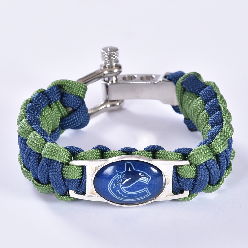 Vancouver Canucks Custom Paracord Bracelet NHL Team Hockey Bracelet Survival Bracelet, Drop Shipping! 6Pcs/lot!(China (Mainland))