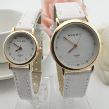 DHL Free Shipping  100pcs/lot  Crystal Hours Lovers' Leather Band Men Women  Watch Gift Watch  Christmas Discount  Promotion