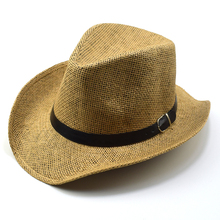 Male Summer Sun Hats Men Adult Straw Summer Casual Fedora Hat Adult Party Cowboy Hat Formal Headwear