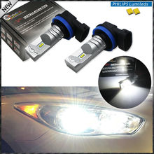 2pcs 6000K Xenon White Powered By Philips Luxen LED H11 H8 H9 Bulbs For Fog Lights Driving Lamps(China)