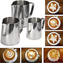 Stainless Steel Espresso Coffee Pitcher Craft Latte Milk cup mugs caneca thermo
