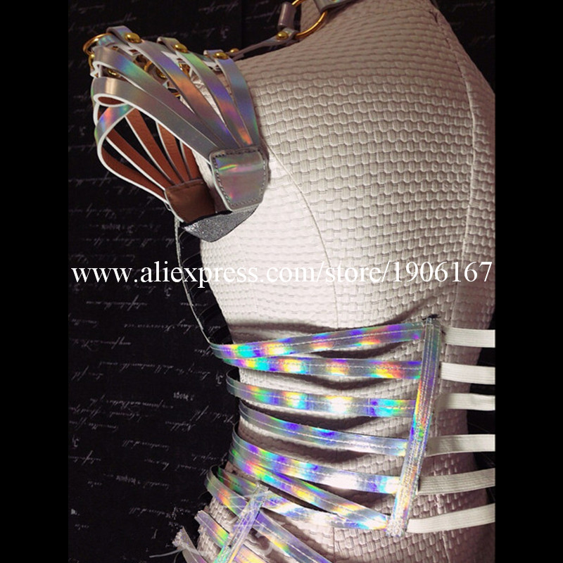 Laser Mirror Costume Future Technology Space Costume Female singer DJ Costume Stage Performance Costume1