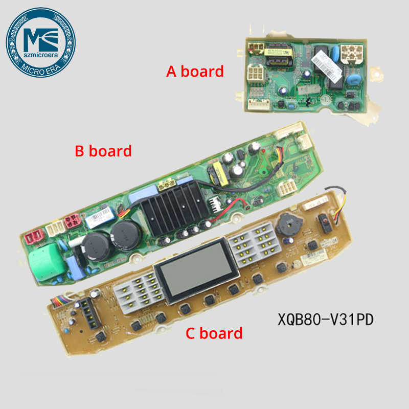 Pukido original motherboard computer board WM12S4R80W circuit board for Washing machine control board Plug Type: Refurbished 220V