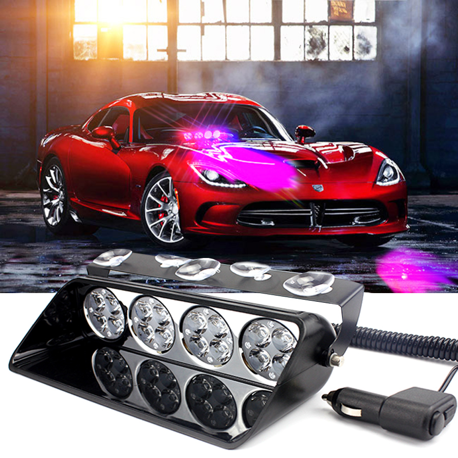 16 led Viper signal strobe light Car Emergency warning flash flasher hazard beacon light Fireman Caution fog lamp Ultra bright luces led de policía