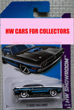 2013 New Hot Wheels 71 Dodge Challenger car Models Metal Diecast Car Collection Kids Toys Vehicle  Juguetes