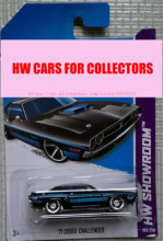 2013 New Hot Wheels 71 Dodge Challenger car Models Metal Diecast Car Collection Kids Toys Vehicle Juguetes(China)