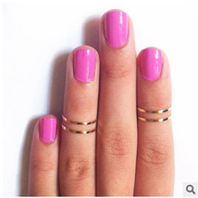 ra500 1pcs 2016 new Fashion Alloy Ring Polished Brass beautiful beautiful female joints jewelry wholesale