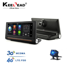 "KEELEAD T1 Car DVR GPS Camera 6.86"" 3G 4G Android Dash cam Video with Rearview Cameras FHD 1080p black box"