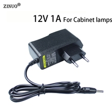 ZINUO Power Adapter 12V 1A Wall Charger 3.5mm *1.35mm EU US Power Supply LED Transfomer For LED Cabinet Lamps(China)