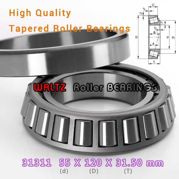 55mm Bearing 31311 27311 E 31311A 31311J2 55x120x31.5  High Quality Single-row Tapered Roller Bearing Cone + Cup<br><br>Aliexpress