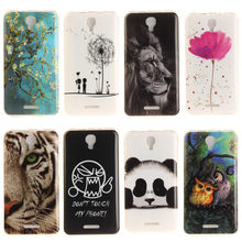 Animal Flowers Soft TPU Cases For Alcatel OneTouch Pixi 4 OT-5010 5010D 3G Version Pixi4 (5) 5010S Back Cover Skin Housing Bags