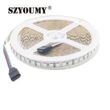 SZYOUMY 10M/ Lot LED Strip 5050 DC12V 120 Leds /M IP20 Non-waterproof Flex Led Tape Ribbon Strip Light RGB White Warm White