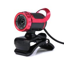 USB  Color Red   12 Megapixel HD Camera Web Cam 360  MIC Clip-on for Computer Laptop PC #05